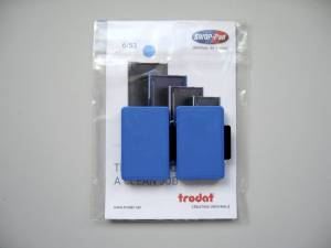 Stempelpude Trodat blå 2-pack 5204,5206,4206,4460 m.fl 6/56