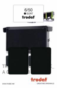 Stempelpude Trodat sort 2-pack 5430,5200,4430,4030 m.fl 6/50