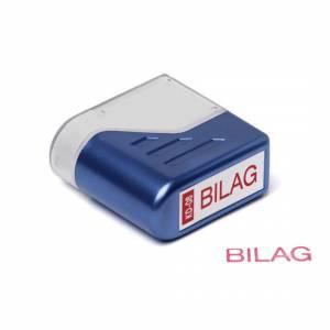Stempel Deskmate BILAG - rød tekst