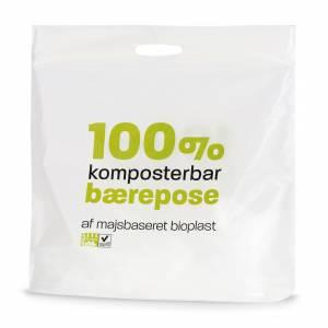 Maistic Bærepose bioplast 45my 550x550/50mm Hvid - 250 stk/ka
