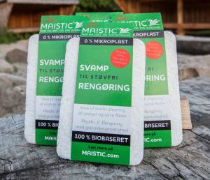 Maistic Svamp støvfri plastfri cellulose 16x11cm