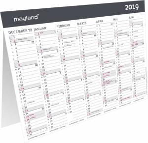 Mayland Bordkalender A5 moderne 2019, 21x15cm