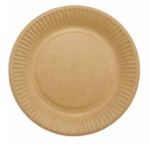 Tallerken frokost pap 18cm brun 50stk/pak