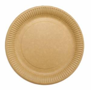 Tallerken frokost pap 23cm brun 50stk/pak