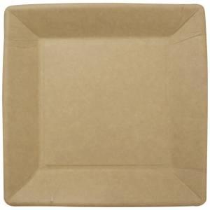 Tallerken frokost pap 23x23cm brun 50stk/pak