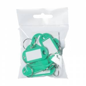 Nøglebrikker BNT plast PET grøn