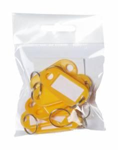 Nøgleskilte BNT plast PET gul