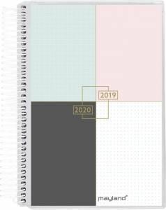 Mayland Stor studiekalender 2019/20 12x17cm 1dag/side - 4 illu