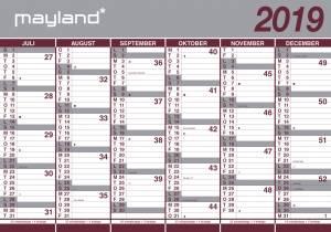 Mayland Kæmpekalender 2019 / 2020 100x70 cm 2x6mdr. PAPIR