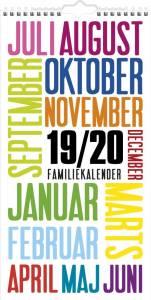 Mayland vægkalender Familie Skoleårskalender Trendart 2019/20 22x43cm