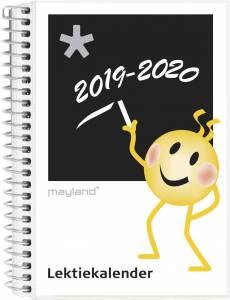 Mayland Lektiekalender 2019/20, 12x17cm tværformat Smiley sort