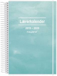 Mayland A5 Lærerkalender 2019/20 højformat 15x21cm -  2i1