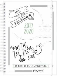 Studiekalender Doodle II 2019/20 A5 ugeplan højformat