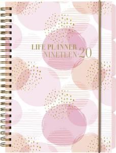 Studiekalender Life Planner 2019/20 A5 uge højformat, pink