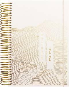 Mayland Dagkalender 2022 m/spiral 1dag/side 12x17cm -  Tekstilpræg