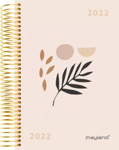 Mayland Dagkalender 2022 m/spiral 1dag/side 12x17cm - Soft touch, blad
