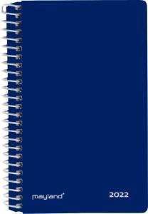 Mayland Mini 2-dages kalender 2022 m/ spiral 2dage/side 8x13cm - Blå