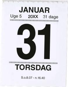 Mayland Afrivningskalender 2022 Broderikalender m/split og bagsidetekst 5x6cm