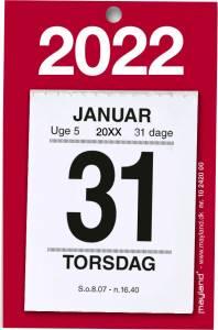 Mayland Afrivningskalender 2022 Lille med bagsidetekst 5x6cm