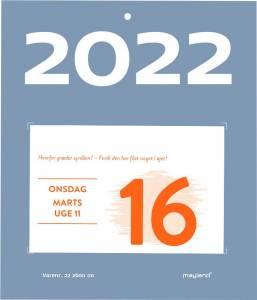 Mayland Afrivningskalender 2022 Humørkalender 10x7cm