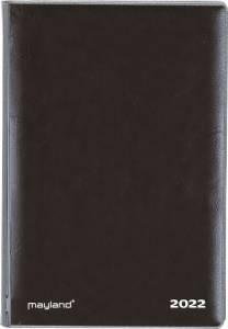 Mayland Mini Planner 2022 i tværformat 8x13cm sort vinyl