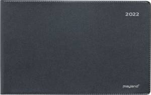 Mayland Mini bordkalender 2022, 9x15cm sort vinyl - ekskl. stativ