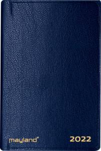 Maylands Lommekalender 2022, 1uge/opslag 7x10,9cm kunstlæder blå
