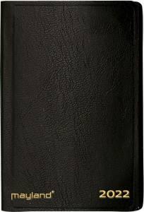 Maylands Lommekalender 2022, 1uge/opslag 7x10,9cm kunstlæder sort