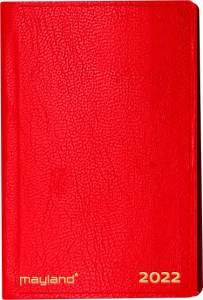 Maylands Lommekalender 2022, 1uge/opslag 7x10,9cm kunstlæder rød