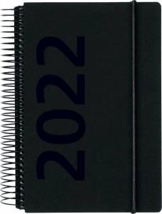 Mayland Dagkalender 2022 m/spiral 1dag/side 12x17cm - sort fiberpap