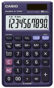 Lommeregner Casio SL-310TER m/ foldeetui euro/10 cifre