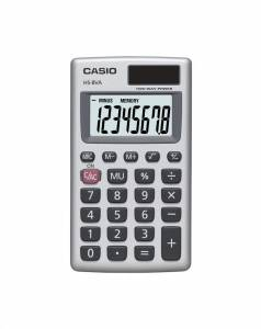 Lommeregner Casio HS-8VA 8 cifre - metalkabinet