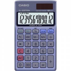 Mapperegner Casio SL-320TER TAX og EURO 12 cifre