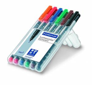 Staedtler Lumocolor permanent pen 318 (F) 0,6mm - 6stk