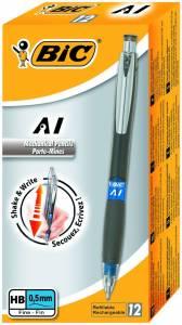 Pencil BIC AI Shaker 3i1 0,5mm grå M/3 miner og viskelæder