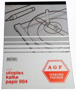 Kalkerpapirblok Utoplex A4 90gr. 884 50ark/blok