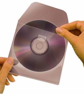 CD/DVD LOMME MED FLAP 100 STK selvklæbende på bagsiden