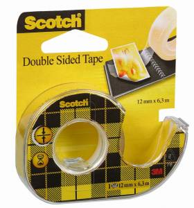 Tape dobbeltklæbende klar 12mmx6,3m