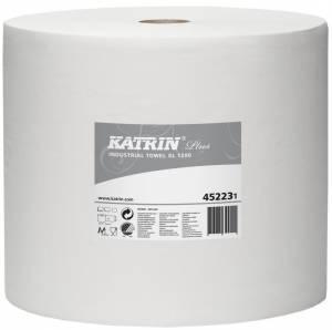 Aftørr.papir Katrin P.xl 1200 hvid (45223 )1-la Ø38,5cm 23cmx1230m - pr. stk
