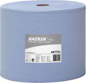Aftørringspapir Katrin P. XL3 BLÅ (447733) 3-lag Ø29cm 31cmx370m - pr. stk