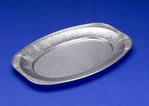 Cateringfad 25x35x2,1cm præget lille oval - 10stk/ps