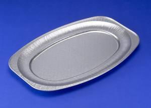 Cateringfad 55x36x2,2cm præget stor oval - 10stk/ps
