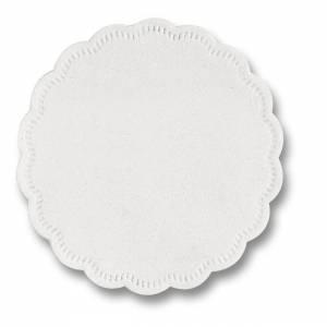Kopunderlag hvid 9cm 8-lags rund - 500stk/pak