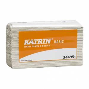 Papirhåndklæde Katrin Ba C-Fold 2-lags 33cm 3000ark/kar 344951