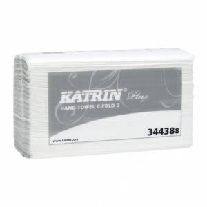 Papirhåndklæde Katrin Pl C-Fold 2-lags 33cm 2400ark/kar 344387