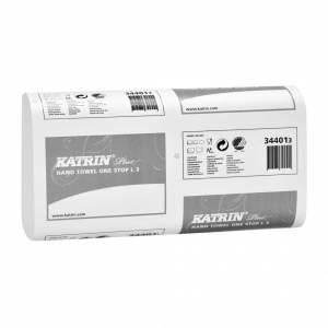 Papirhåndklæde Katrin Plus One 3-lags 34cm 1890ark/kar 344010