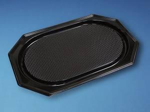 Cateringfad A-PET sort plast 55x36cm oval stor - 10x10stk/kar