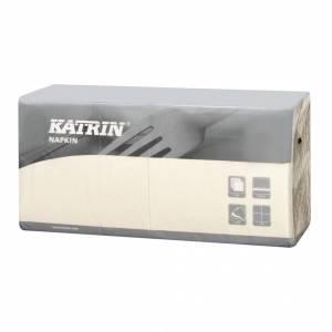 Servietter Katrin Fasana 25x25cm 3-lags creme - 4x250stk