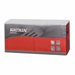 Servietter Katrin Fasana 25x25cm 3-lags rød - 4x250stk