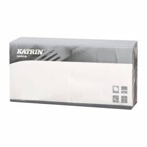Servietter Katrin Fasana 40x40cm 3-lags hvid - 4x250stk